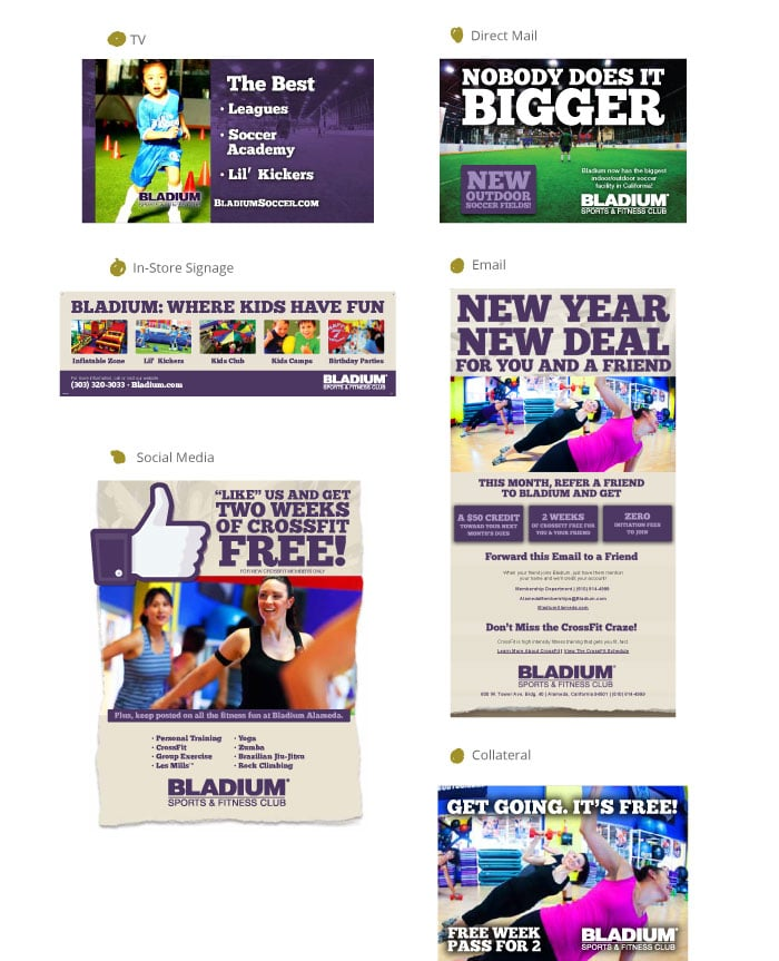 Bladium Sports Centers Website Campaign